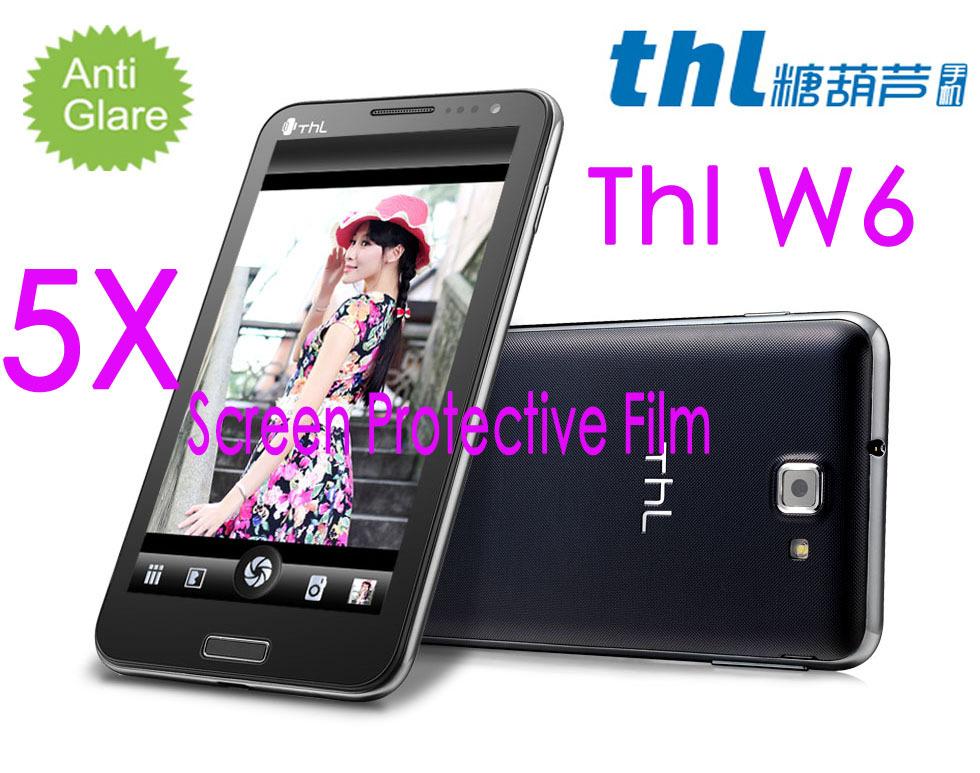 Free Shipping Original THL W6 MTK6577 Screen Potector film,Matte Anti-glare Mobile Phone THL w6 Screen Protective Film(China (Mainland))