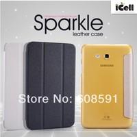 Original Nillkin Sparkle Series Ultra Thin Leather Case For  Samsung Galaxy Tab 3 7.0 Lite T110 T111 , MOQ:1PCS Free shipping