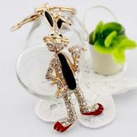 Metal keychain - bags pendant - cartoon rabbit - keychain