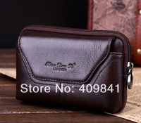freeshipping 100%Genuine Leather Carry Belt Pouch Crossover Waist Purse Case Original Lenovo S650 4.7 Inch phone Dropshipping