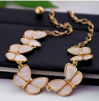 5pcs/lot free shipping 2014 new desgin Fashion Korean version of multilayer Butterfly Necklace ,fashion jewelry