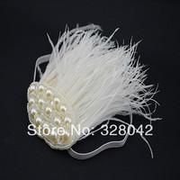 Min order--1 pcs new 2014 girl fashion bling elastic Headband princess feather headwear Baby kids Hair Accessories