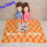 Free Shipping 85X140 Child Coral Fleece Blanket Baby Swadding Nap Blanket Cartoon Blanket Gift Blanket