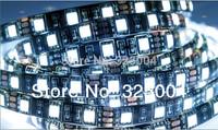 PCB Black 5M 5050 RGB/Single Color 300 Led SMD Flexible Light Strip IP65 Waterproof DC 12V