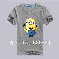 2014 new Free shipping Cotton men's Despicable Me little yellow man vest large size multi-color short-sleeved T-shirt S-XXXL
