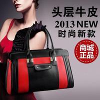 New fashion casual Korean genuine leather handbags ladies handbag shoulder bag diagonal package for woman +free shipping !!!