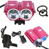 2x CREE XM-L U2 LED 4 Mode Bike Bicycle HeadLamp HeadLight Light+4x 18650B N0048
