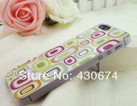 2*Piece Floral Print Matte Polypropylene Plastic Case for iPhone 5S/5