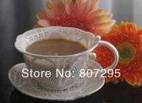 Free shipping handmade knitted coffee mug and saucer lovers mug wedding gift