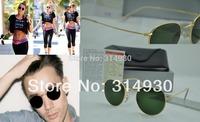 Free shipping , retro sunglasses , men's women's sunglasses 3447 sunglasses glass lenses, metal frame
