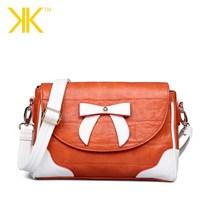 Fashion crocodile pattern one shoulder female famous brand kardashian kollection kk bag 2014 women bow cross-body kk handbag