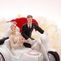 Wedding decoration supplies wedding props wedding cake bride and groom motorcycle decoration
