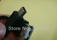 Free shipping 100pcs/lot MINI 5P USB OTG Cable for Android Tablet GPS MP3 Phone