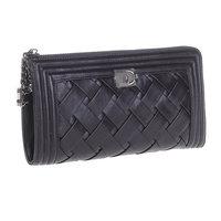 2014 sheepskin women's day clutch wallet long design female womens wallets popular knitted full genuine leather female bags