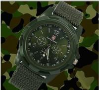 Solider Military Army Men's Watch Style Canvas Fabric Belt Luminous Quartz Wrist Watch 3PC/LOT Black  Blue Green Color154