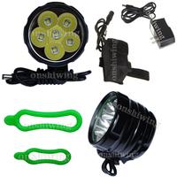 SKYRAY 6x CREE XM-L T6 LED Bike Bicycle HeadLight Head Lamp Light+4x 18650 ON0052