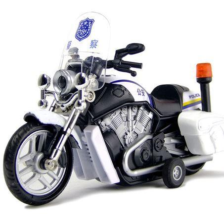 Alloy Police Motorcycle Pull Back Motor Racing Model Children Acousto-Optic Warrior Alloy Car Boys Like 5589(China (Mainland))
