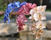 high quality artificial silk flashing orchids Phalaenopsis ,high 95cm,artificial silk flower,wedding flower,free shipping