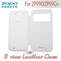 ZOPO Captain S zp990 zp990+ leather case-White, Flip Cover Protective Case, mobile accessery, freeshipping