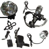 CREE XM-L T6 SSC LED 3Mode Bike Head Light Lamp P7 Torch +4x 18650+Charger  ON0113
