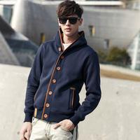 Free Shipping  Male 2014 spring outerwear fashion sweatshirt male cardigan teenage outergarment men's clothing baseball uniform