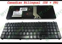 New Laptop keyboard for HP Pavilion dv7 dv7-2000 dv7-2100 dv7-3000 Glossy Black Canadian Bilingual (US + French) - AEUT5K00110