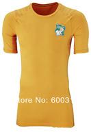 A+++ best 2014 World Cup Ivory Coast Home Orange Jerseys Football Kit Toure Yaya Drogba kalou Doumbia Gervinho Soccer Uniforms