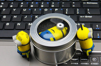 Packed in Gift Tin Box Usb flash drive Despicable Me 2 Dave Kevin Stuart  8GB 16GB 32GB 64GB  usb flash memory Stick pen drive