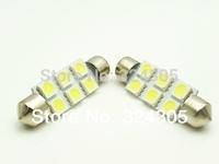 100X31mm 36mm 39mm 41mm 5050 SMD 6 LED Festoon Dome Car Light auto door Lamp instrument Bulb pathway lighting White 12V worklamp