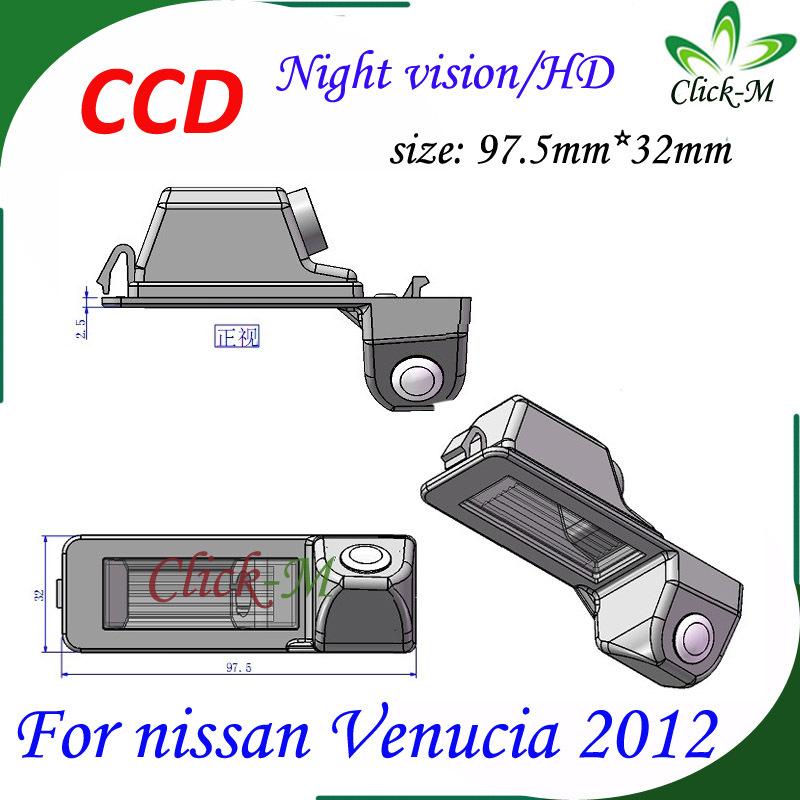 520TVL CCD HD parking reverse camera for nissan Venucia 2012 night vision car rear view camera Pixel 728*582(China (Mainland))
