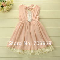 Free shipping 2014 new sleeveless hollow crochet baby girls lace summer ball gowns dress princess lace summer dresses