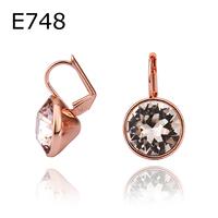 18k gold plated austrian crystal rhinestone stud earrings fashion jewelry  8E140