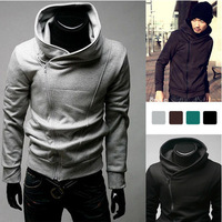 Freeshipping 2014 New Mens Clothing Assassins Creed 3 Desmond Miles Cosplay Costume Hoodie Coat Jacket Sweatshirt