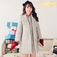 2014 new woolen outerwear female thickening autumn and winter women slim sweet winter overcoat winter Y8P1