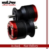 BJ-Screws-3003 Red Color 6mm motorcycle carbon fiber Swingarm Spools slider fits for Yamaha