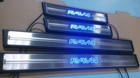 high quality 2014 TOYOTA RAV4 Stainless Steel Scuff Plate / Door Sills with led light
