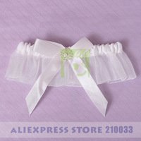 Free Shipping Fairy Sexy Bridal Garters with Ivory Bow for Wedding Retail Special Wedding Party Stuff Supplies Accessory