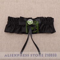 Free Shipping Fairy Sexy Bridal Garters with Black Bow for Wedding Retail Special Wedding Party Stuff Supplies Accessory