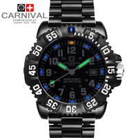 Swiss army watches watch outside sport watch male black steel strip special submersible men's watch