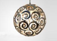 Hot selling modern novelty lamp 25cm Aluminium crystal lighting pendant light