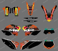 New style (BULL BLACK 0408) TEAM GRAPHICS & BACKGROUNDS DECALS FOR KTM SX XC XC-W EXC 2008 2009 2010 2011