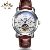 Aesop watch fashion tourbillon fully-automatic mechanical watch waterproof male watch multifunctional watch