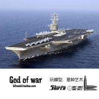 Trumpeter aircraft 1/ 500 U.S. Nimitz class aircraft carrier 5 in 1 with motor Military simulation assembly model toys 67cm