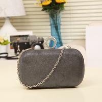 trending 2014 women's handbag diamond rhinestone chain bag evening clutch cheap price high quality free shipping