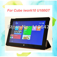 """For Cube iwork10 U100GT Smart Cover Fashion Folio Slim Stand 10.1"""" Tablet PC Leather Case Free shipping"""