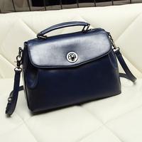 Fashion women's handbag trend 2014 women's bags waxy leather bag handbag messenger bag fashion shoulder bag