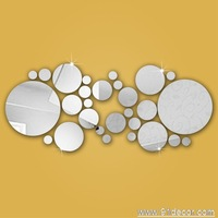 bigmidsmall balls wall sticker mirror sticker home decoration for gift and global free shipping !