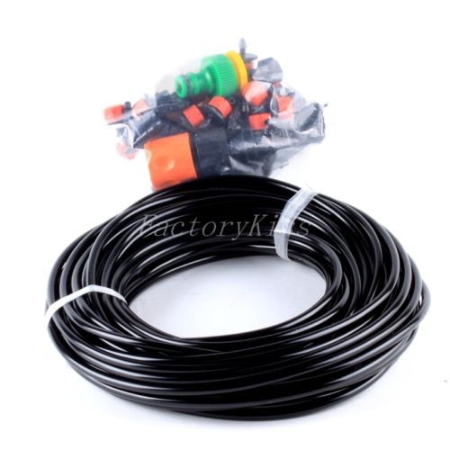 Free Shipping 20m Hose 25x Drippers Micro Irrigation Drip System Plant Garden Watering Kit [4003-157](China (Mainland))