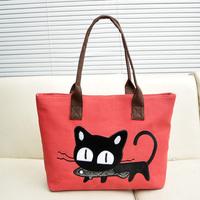 2014 women's handbag canvas shoulder bag women's handbag Embroidery lady shoulder bags