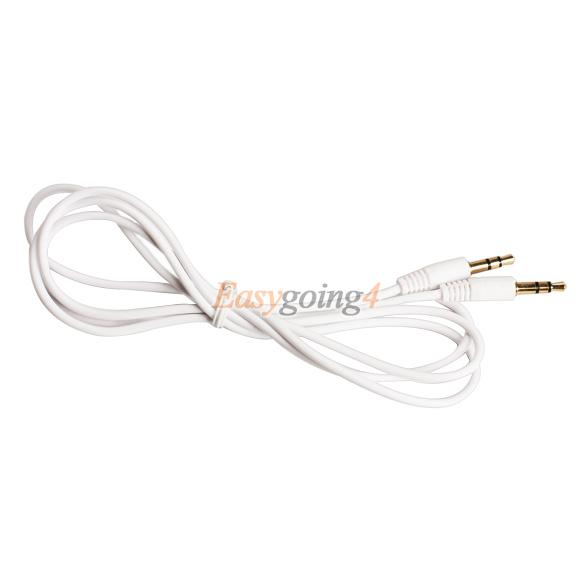 EA14 3.5mm Audio Adapter Aux Auxiliary Cable Cord for iPod MP3 Car White(China (Mainland))